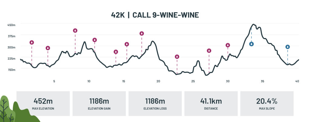 Marathon route profile - 42km